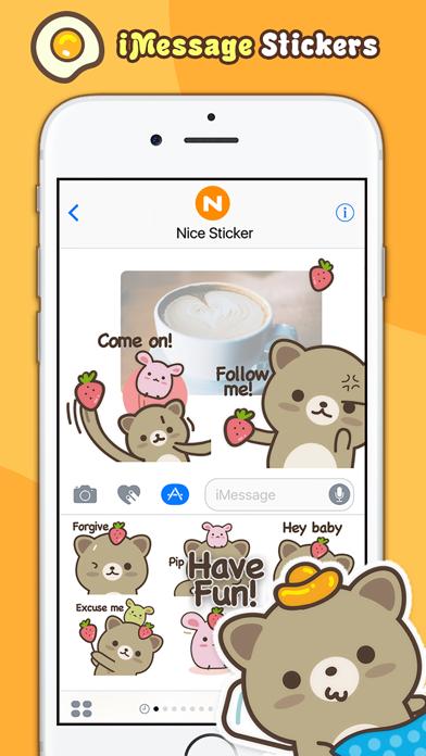 Strawberry Cat - Cute Stickers by NICE Sticker screenshot three
