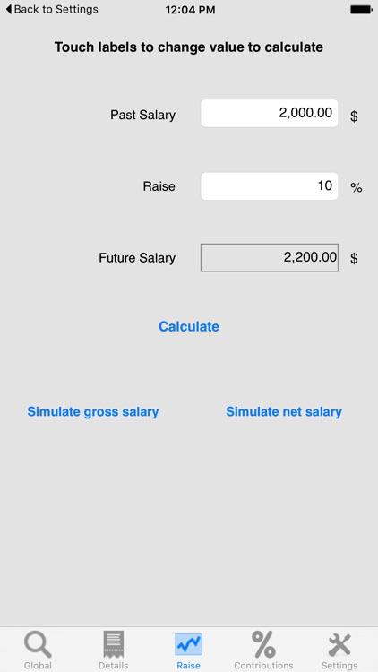 Salary Net / Gross (Pro)