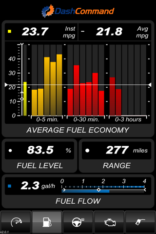 DashCommand - OBD-II gauge dashboards, scan tool screenshot 2