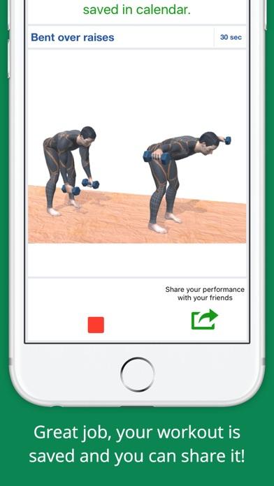 Upper Body Challenge Workout Free App Screenshots