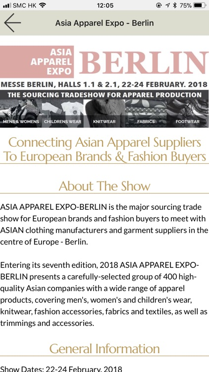 Asia Apparel Expo by COMASIA LIMITED