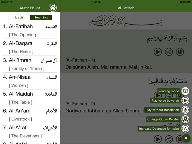 Alƙur'ani a Hausa on the App Store