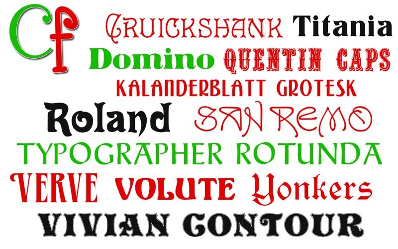 Free Fonts - Christmas Collection скриншот программы 3