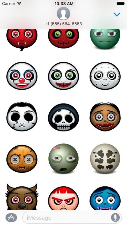 Halloween Face Emoji - Sticker