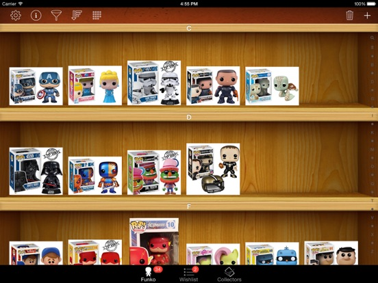 Vinyl Figure Toy Collector Manager - iPad version screenshot one