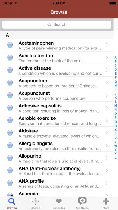 1000 医学用語、条件と治療の関節炎辞書や用語集。のおすすめ画像1