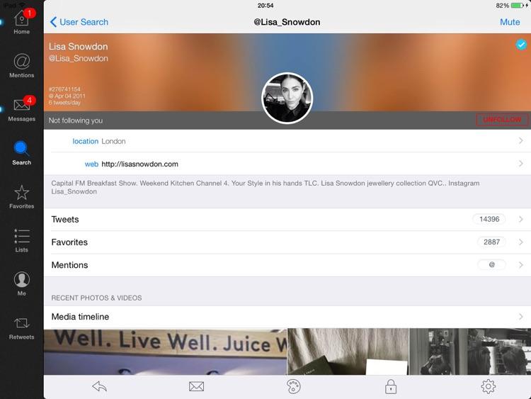 Tweetings for Twitter (iPad edition)