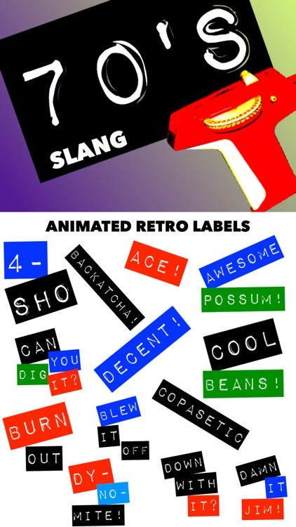 70's Slang: Retro Labeler
