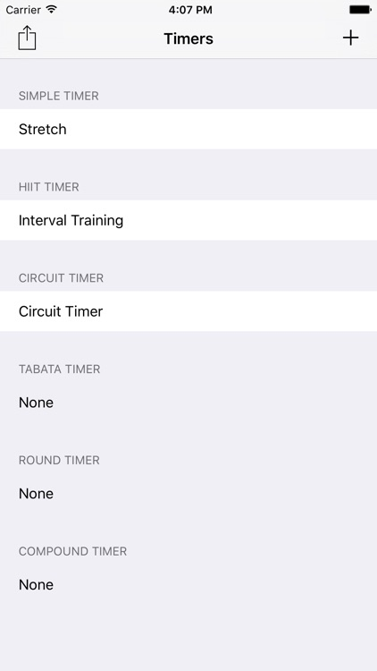 Training Timers