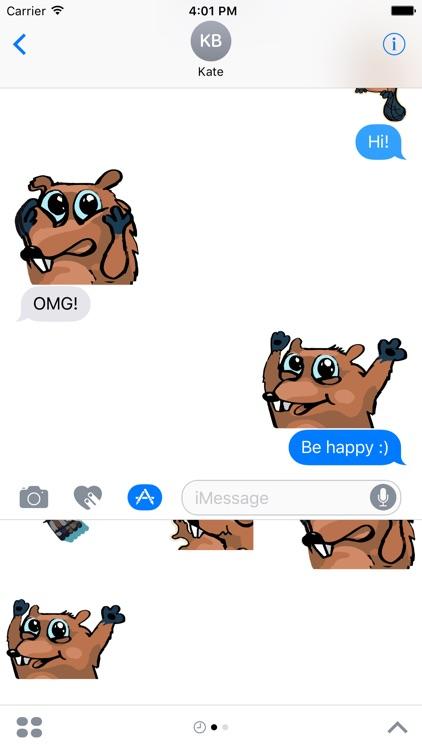 Beaver Time - stickers, emojis, smiles