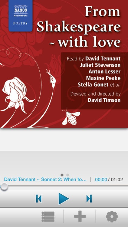 From Shakespeare, with Love: Audiobook App