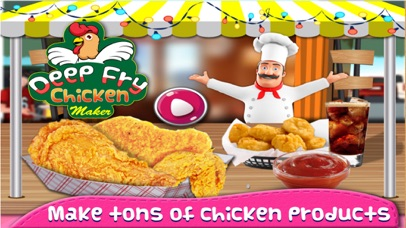 Chicken Deep Fry Maker Cook - A Fast Food Madness