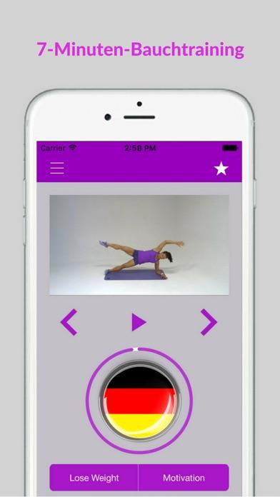 Bauchtraining Workout Fitness Bauch ÜbungenScreenshot von 1