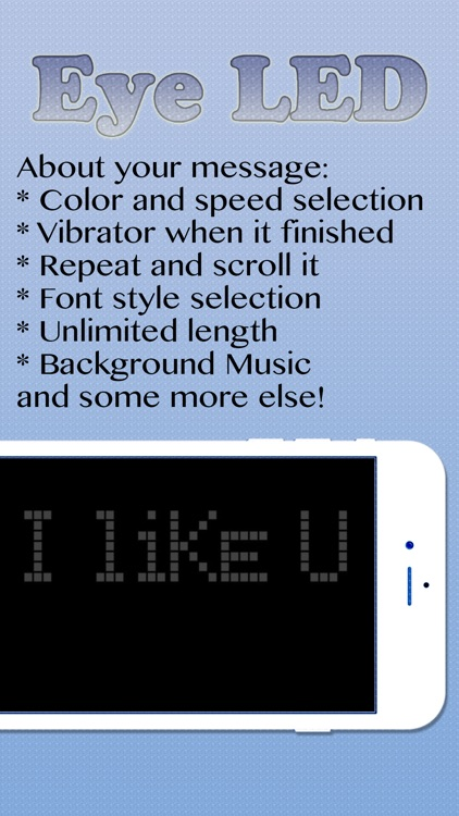 eyeLED - The LED Message Banner App