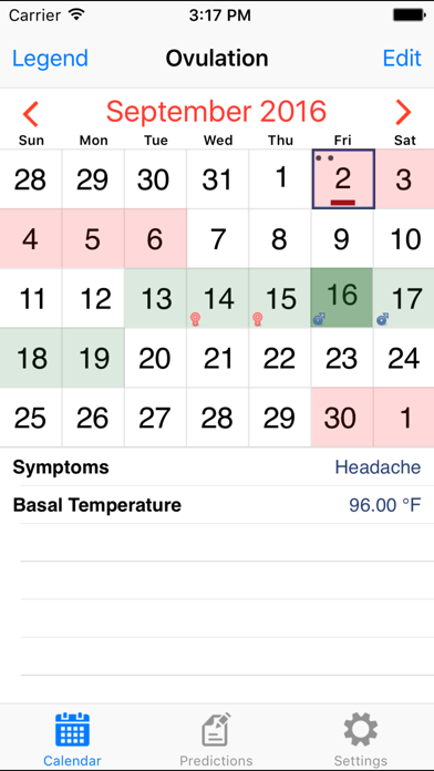 Ovulation Calendar Diary screenshot one