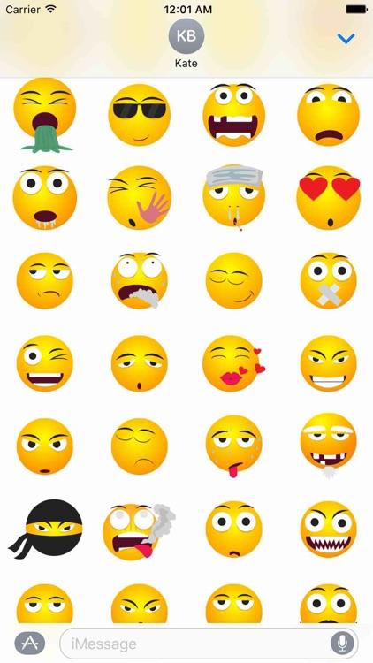 Funny Smileys Sticker Pack! screenshot-3
