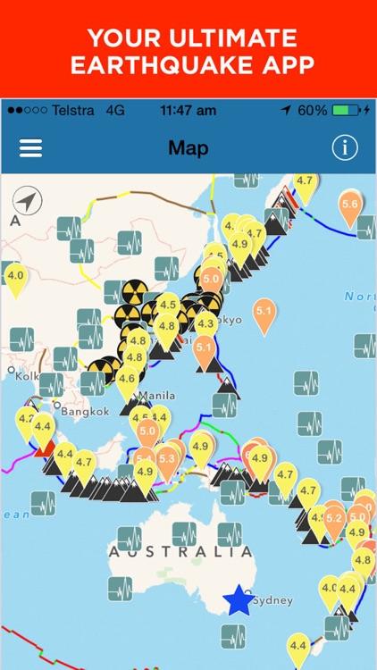 Earthquake+ | Earthquakes Map, News, Alert & Info screenshot-0