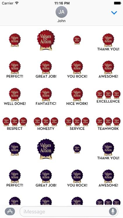 VIA Cranberry Stickers