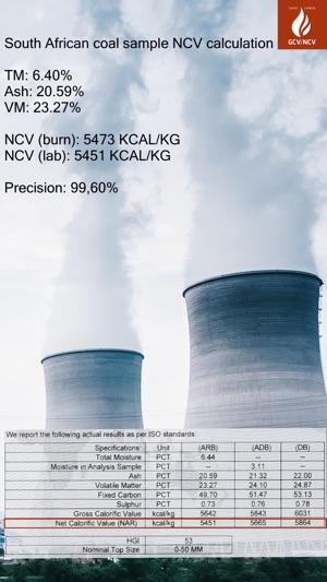 Burn Coal Calorific Value Calculator