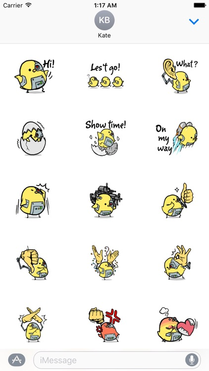 Chick-Commander Robot Sticker