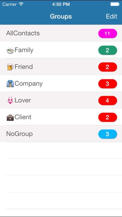 Contacts Grouping Lite screenshot-0