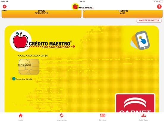 Crédito Maestro-ipad-0