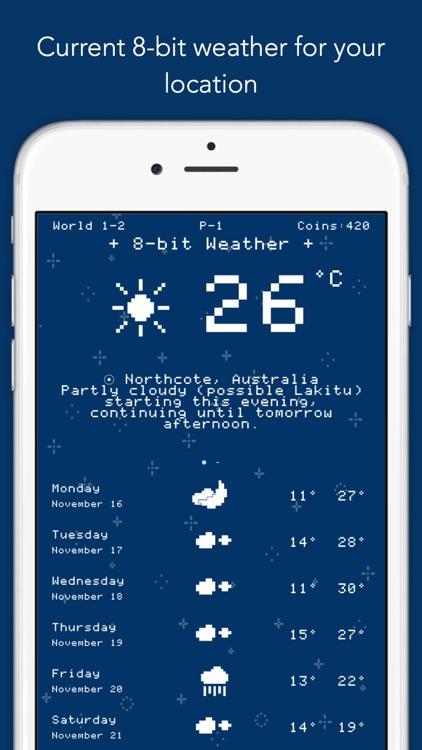 8-bit Weather - hyper local forecasts