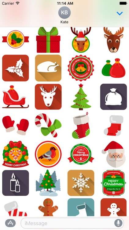 Holiday and Christmas Stickers