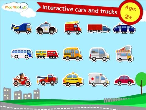 くるま, トラック, しょうぼうしゃ -子供のためのゲームのおすすめ画像1