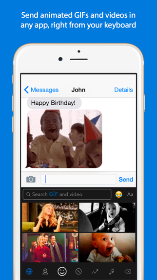 Screenshot for GIF Keyboard in Finland App Store