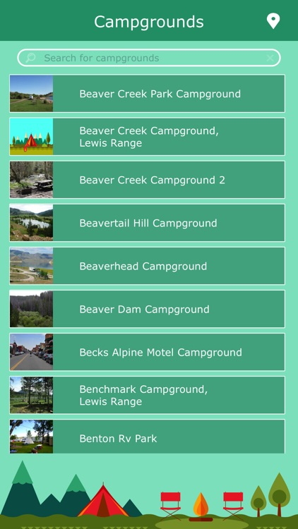 Montana Camping Locations screenshot-1