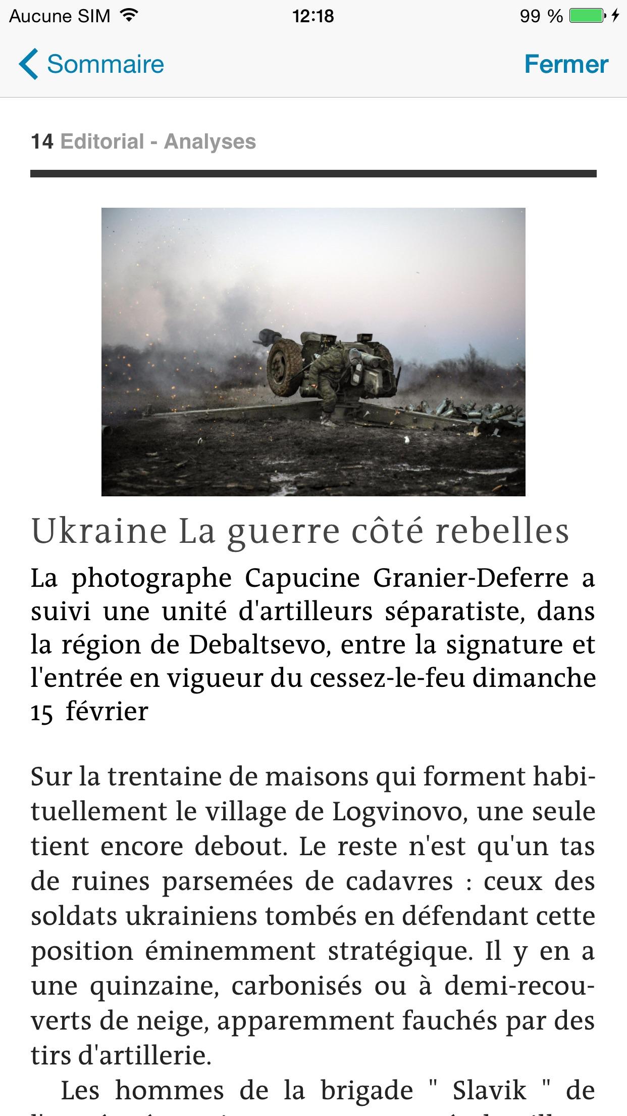 Journal Le Monde Screenshot
