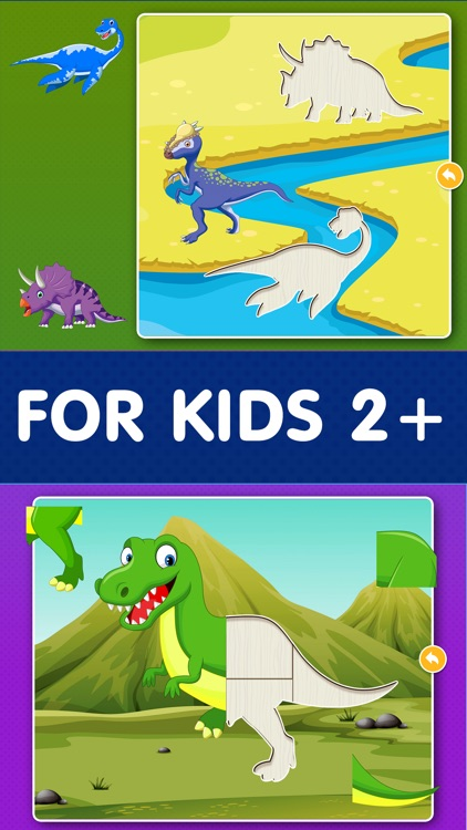 Kids Dinosaur Puzzle Games: Toddlers Free Puzzles screenshot-1