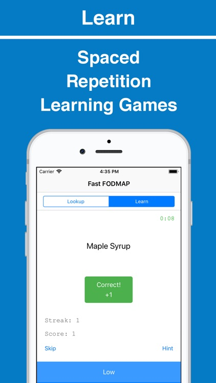 Fast FODMAP Lookup & Learn