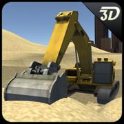 沙挖掘机模拟器3D - PRO重型起重机