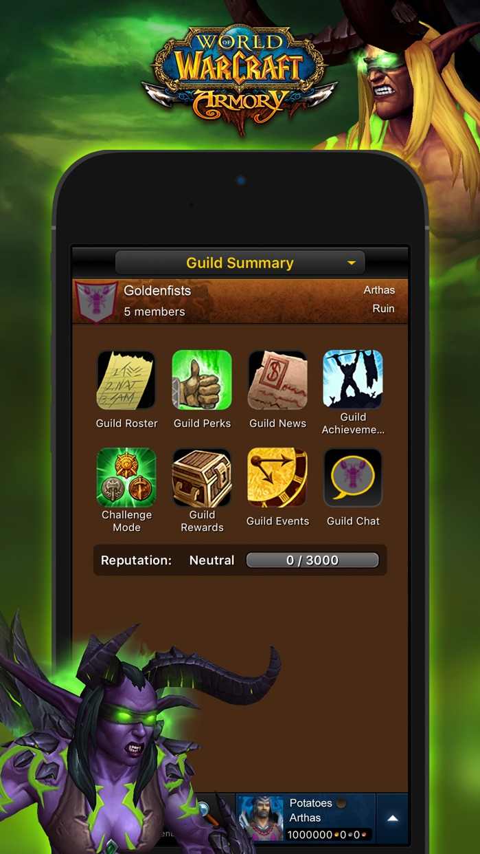 WoW Mobile Armory Screenshot