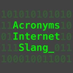 Internet Slang Sticker