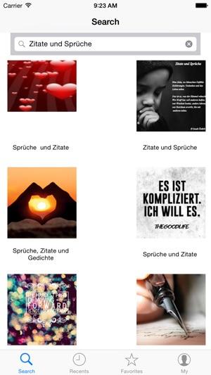 Sprüche, Zitate und Gedichte im App Store