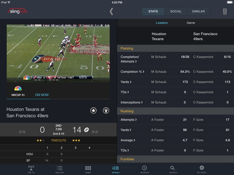 SlingPlayer Basic for iPad