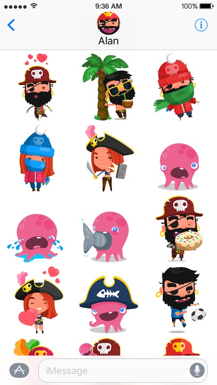 Pirate Kings Stickers for Apple iMessage screenshot-0