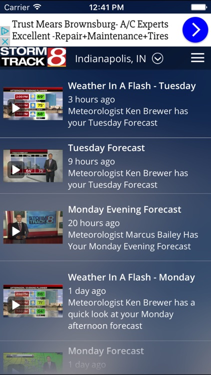 WISH-TV Weather - Radar & Forecasts