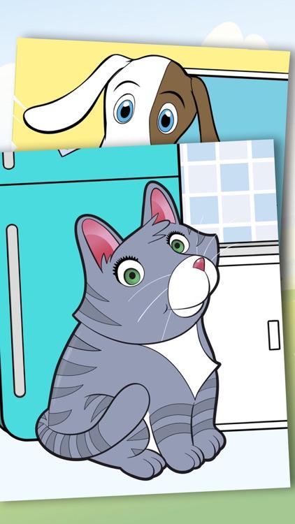 Paint pets in coloring book children screenshot-3