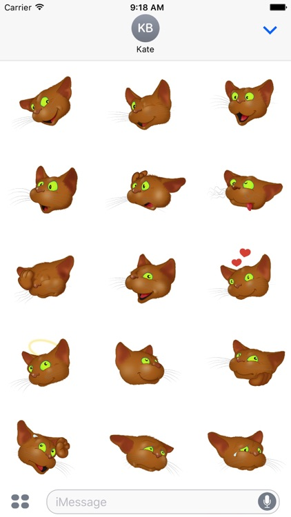 Brown Cat emoji screenshot-4
