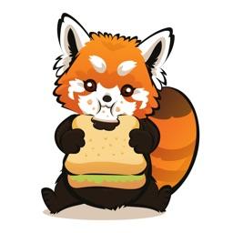 Red Panda - Cartoon Raccoon Sticker Bundle