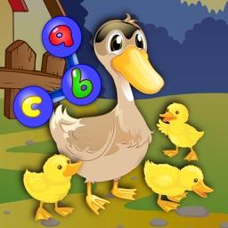 Preschool ABC farm animal join the dot puzzles