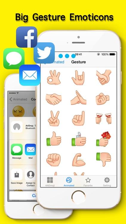 AA Emoji Keyboard - Animated Smiley Me Adult Icons screenshot-4