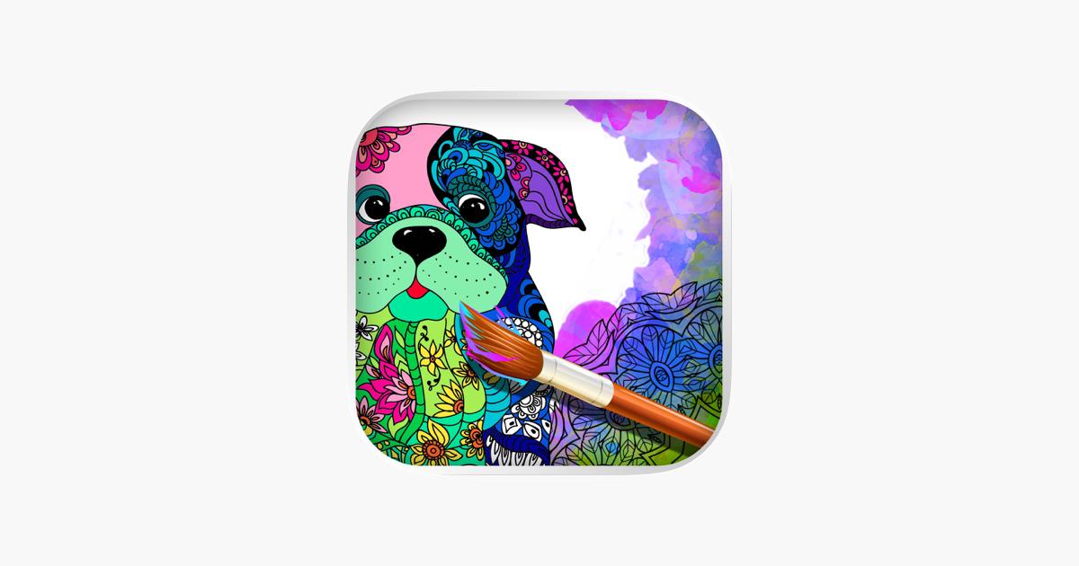 Mandalas Kopek Yetiskinler Icin Boyama Sayfalari App Store Da