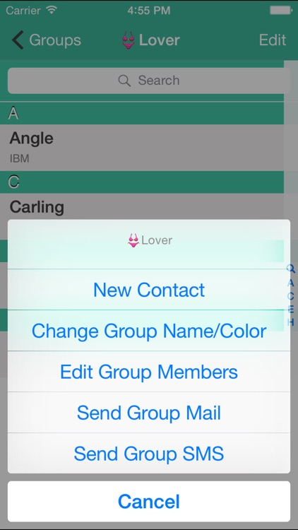 Contacts Grouping Lite
