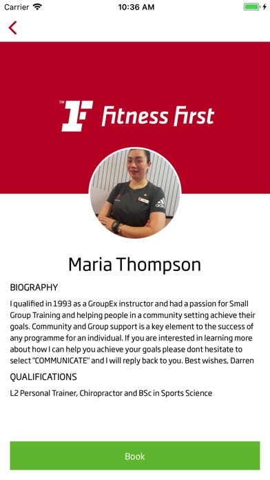 MyFitnessFirst Screenshot
