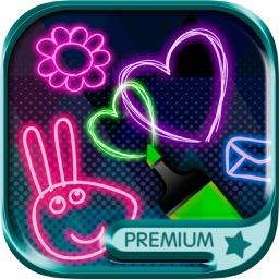 Neon drawing - Premium